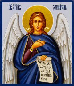 Рукописная икона Ангел Хранитель 59