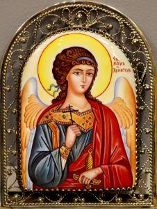 Икона из финифти Ангел Хранитель