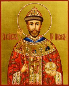 Рукописная икона Николай Второй 2