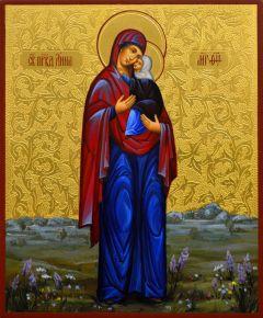 Рукописная икона Анна праведная 3