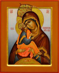 Рукописная икона Почаевская 3 (Размер 17*21 см)
