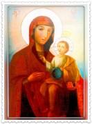 Рукописная икона Байбузская Божия Матерь