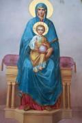 Рукописная икона Богоматерь на престоле