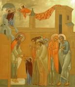 Рукописная икона Введение во храм Пресвятой Богородицы