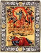 Рукописная икона Видение Иоанна Богослова