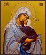 Рукописная икона Анна Праведная 4 (Размер 17*21 см)