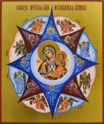 Рукописная икона Неопалимая Купина 12