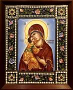 Икона из финифти Владимирская 2
