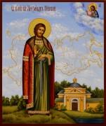Рукописная икона Александр Невский 22