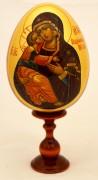 Пасхальное яйцо рукописное Владимирская икона 2