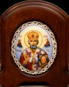 Икона из финифти Николай Чудотворец 50 (Размер 11*14 см)