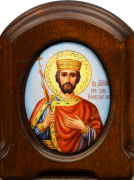 Икона из финифти Константин (Размер 11*14 см)