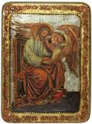 Икона ручной работы Апостол Марк с камнями