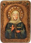 Икона ручной работы Матрона Московская с камнями