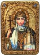 Икона ручной работы княгиня Ольга с камнями