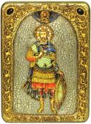 Икона ручной работы Иоанн Воин с камнями