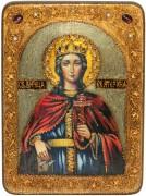 Икона ручной работы Екатерина с камнями