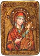 Иверская икона Божией Матери с камнями