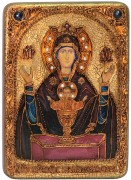 Икона Неупиваемая Чаша с камнями