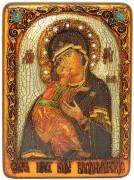 Икона Владимирская Божия Матерь с камнями