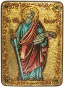 Икона ручной работы Апостол Павел с камнями