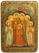 Икона Святые царственные Страстотерпцы с камнями