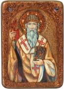 Икона Спиридон Тримифунтский с камнями