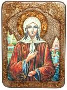Икона Ксения Петербургская (Петурбуржская) с камнями