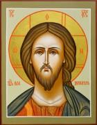 Рукописная икона Спас оплечный (Размер 10*13 см)