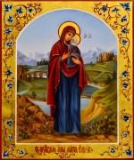Рукописная икона Анна Праведная 5 (Размер 17*21 см)