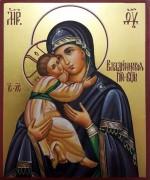 Рукописная икона Владимирская 18