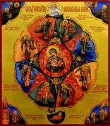 Рукописная икона Неопалимая Купина 14 (Размер 27*31 см)