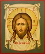 Рукописная икона Спас Нерукотворный 20 (Размер 21*25 см)