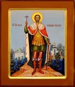 Рукописная икона Александр Невский 24 (Размер 27*31 см)