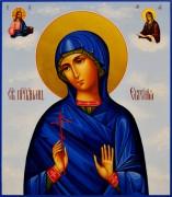Рукописная икона Евгения Римская
