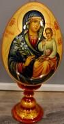 Пасхальное яйцо рукописное Неувядаемый Цвет с узором