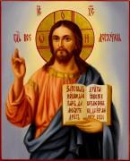 Рукописная икона Спас Вседержитель масло 33