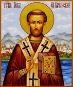 Рукописная икона Лев Катанский 2