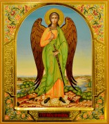 Рукописная икона Ангел Хранитель 69 (Размер 27*31 см)