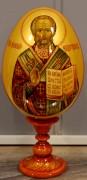 Пасхальное яйцо рукописное Николай Чудотворец 2