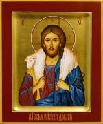 Рукописная икона Добрый Пастырь 3 (Размер 17*21 см)