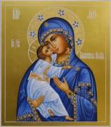 Рукописная Владимирская икона с узором 8