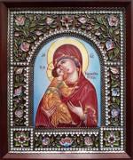 Икона из финифти Владимирская