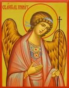 Рукописная икона Ангел Хранитель под старину 74 (Размер 7*9 см)