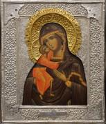 Рукописная икона Феодоровская с окладом (Размер 26*31 см)