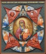 Резная икона Неопалимая Купина