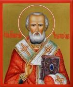 Рукописная икона Николай Чудотворец 57
