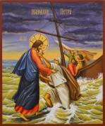 Рукописная икона Маловерие Петра