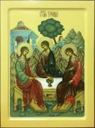Рукописная икона Святая Троица 20