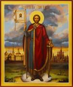 Рукописная икона Александр Невский 27 (Размер 21*25 см)